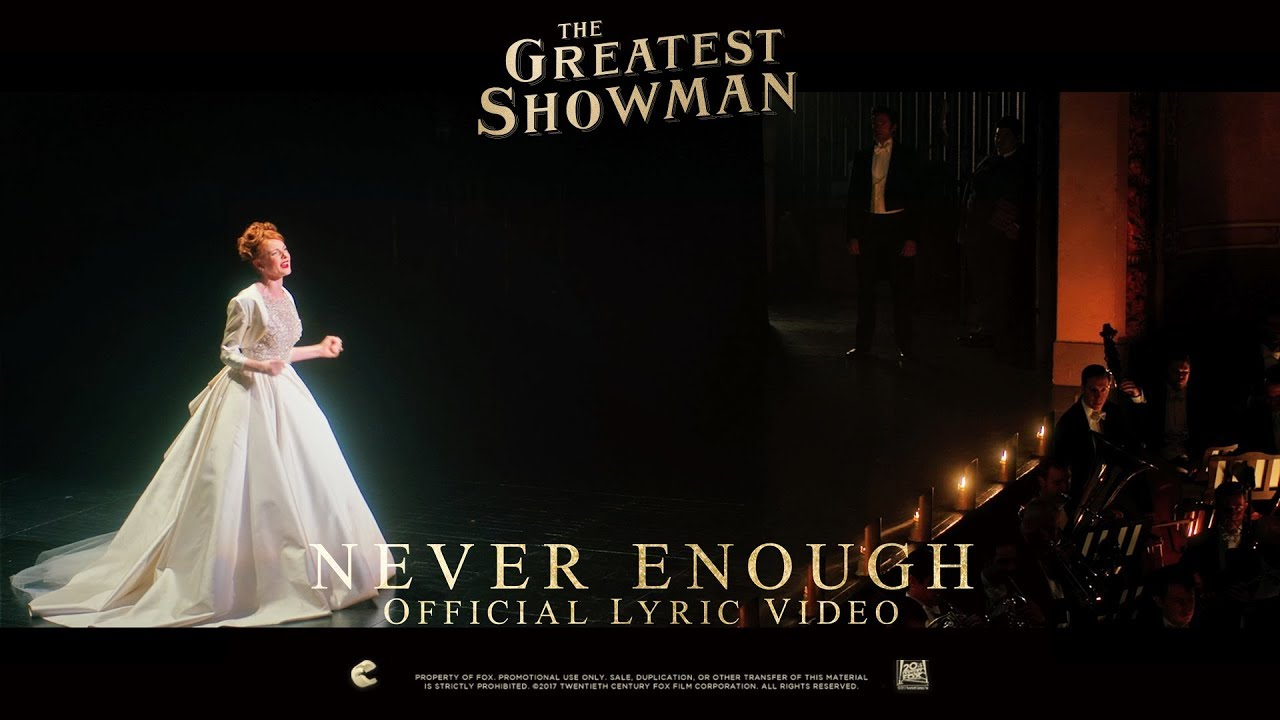 Never Enough Lyrics - The Greatest Showman (2017), Loren Allred