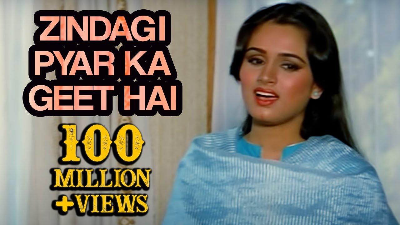 Zindagi Pyar Ka Geet Hai Lyrics in Hindi and English - Lata Mangeshkar, Souten (1983)